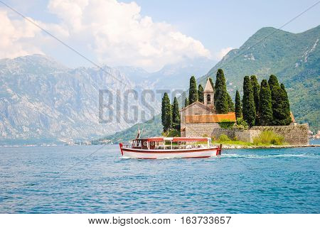 St. George Island In The Bay Of Kotor.