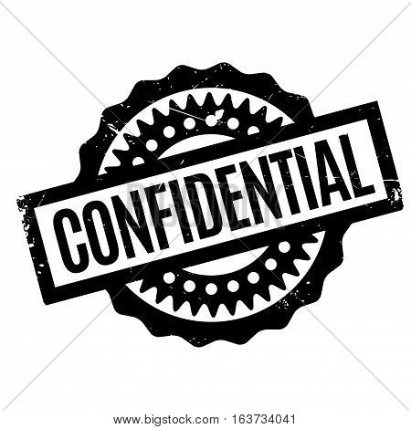 Confidential rubber stamp. Grunge design with dust scratches. Effects can be easily removed for a clean, crisp look. Color is easily changed.