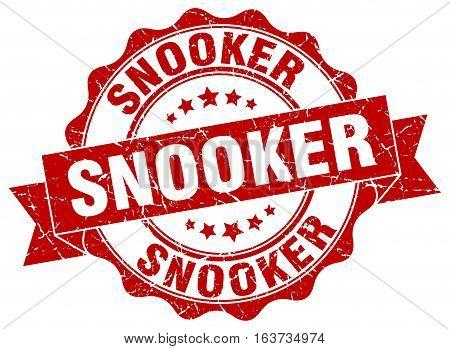 snooker. stamp. sign. seal. round. retro. ribbon