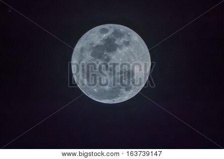 Full moon on the dark night taken on 14 November 2016