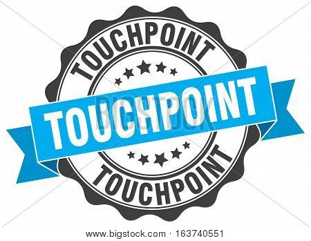touchpoint. stamp. sign. seal. round. retro. ribbon