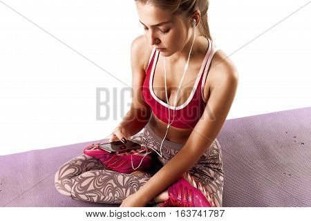 Fitness Girl White Isolated Background