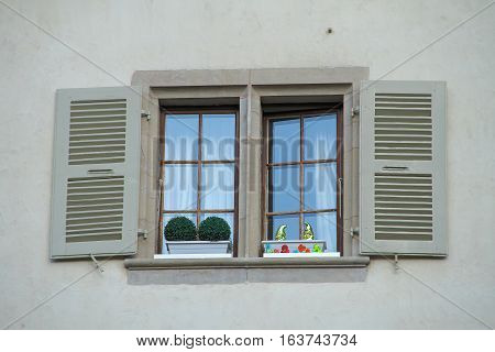 A cute window on the old street