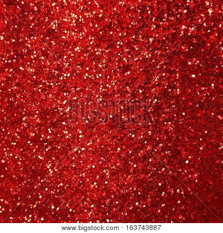 Shiny red glitter texture background for design