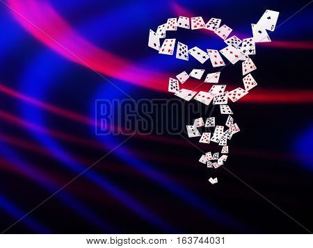 Playing Cards Flying