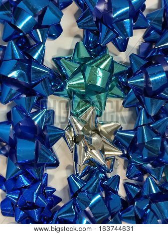 Celebration the boxing day with closed up variety colorful ribbon collection for gift 6