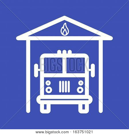 Fire, brigade, truck icon vector image. Can also be used for firefighting. Suitable for web apps, mobile apps and print media.