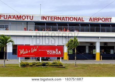 Tongatapu, Tonga - November 10: Fua'amotu International Airport On November 10, 2013 On Tongatapu Is