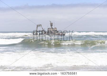 image of Sceleton coast in Namibia Africa