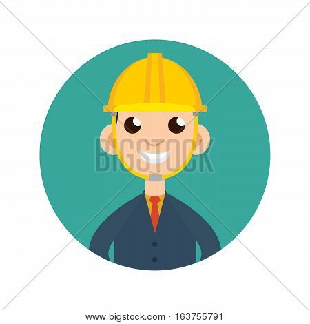 Home inspector icon flat style vector illustration