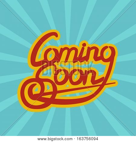 Cooming Soon draw lettering vector illustration stock