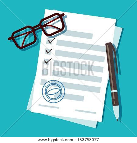 Loan application form document, mortgage vector concept. Document for loan for home, car and business illustration