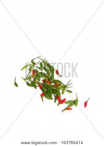hot chili savory paprika fresh on a white background