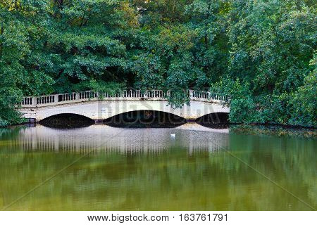 Sham Bridge at Thousand Pound Pond in Hampstead Heath London