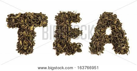 Word Tea Made Of Dry Leaves