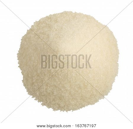 Heap Of White Granulated Sugar Isolated