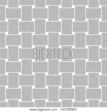 Vector seamless pattern. Abstract small dotted textured background. Modern stylish texture. Regularly repeating geometrical tiles with dots dotted grids squares. Contemporary design.