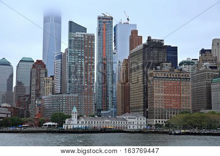 A view of Manhattan Skyline New York. January 2017