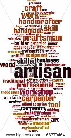 Artisan word cloud concept. Vector illustration on white
