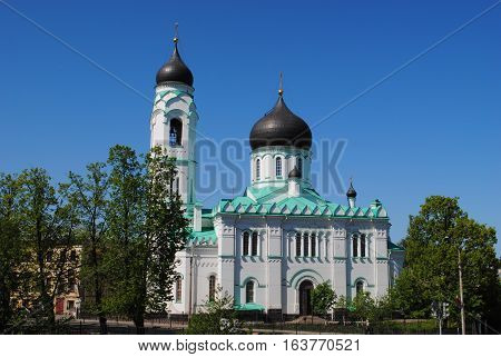 Church Orthodox Church in Lomonosov Oranienbaum summer