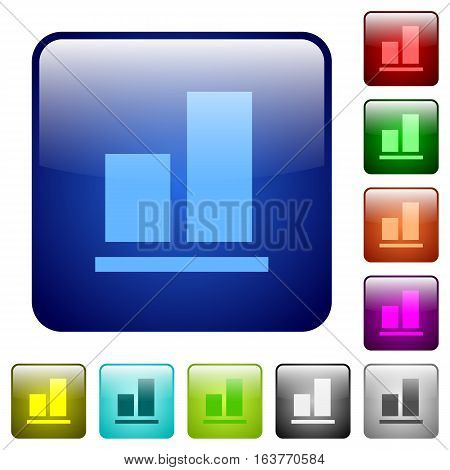 Align to bottom icons in rounded square color glossy button set