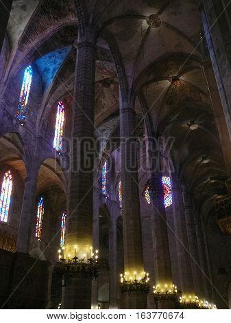 La Seu Cathedral In Palma De Mallorca