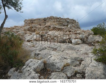 Puig De Sa Morisca (moorish Peak) Archaeological Park In Majorca
