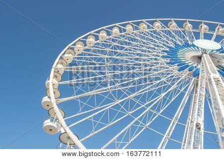 Ferry Wheel, Vieux Port in Marseille, France