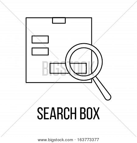 Search box icon or logo line art style. Vector Illustration.