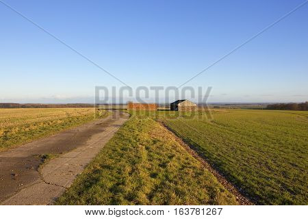 Footpath And Farm Buildings