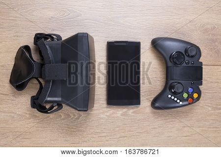 Still Life Of Entertainment And Gaming Devices