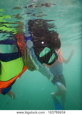 seen the face of someone who was snorkeling