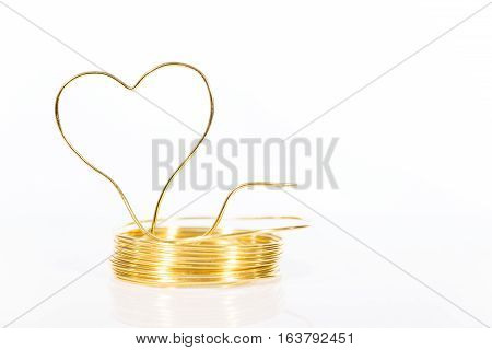 Roll Tinker Wire With Shaped Heart
