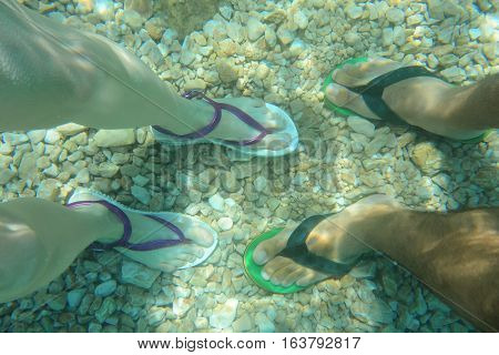 Human Feet In Water