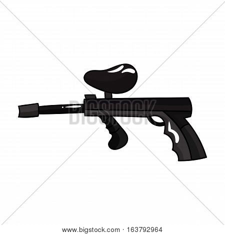 Paintball gun icon in cartoon design isolated on white background. Paintball symbol stock vector illustration.