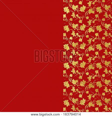 Gold Foil Ornamental Background