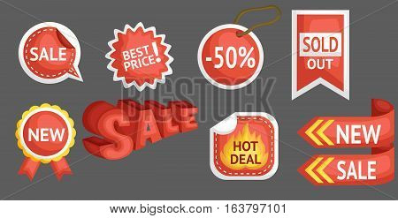 many sales and discount sales on a set