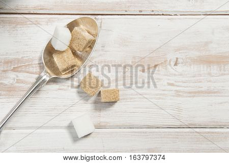 Sugar Cubes On Spoon