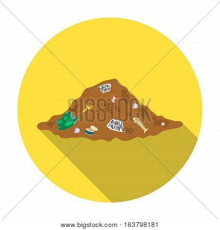 Dump icon in flat design isolated on white background. Bio and ecology symbol stock vector illustration.