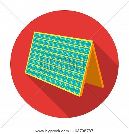 Solar panel icon in flat design isolated on white background. Bio and ecology symbol stock vector illustration.