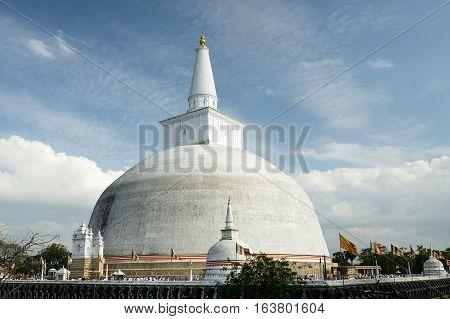 Anuradhapura ruin Mirisavatiya Dagoba Stupa Sri Lanka