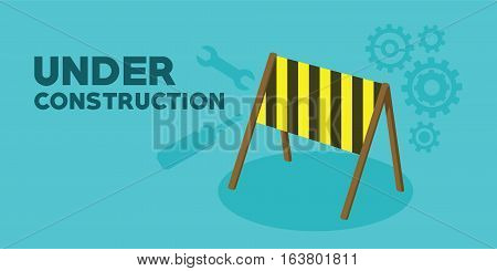 under construction web page background vector illustration
