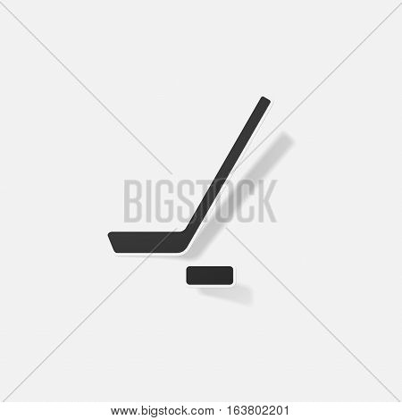 Sticker paper products realistic element design illustration stick and puck