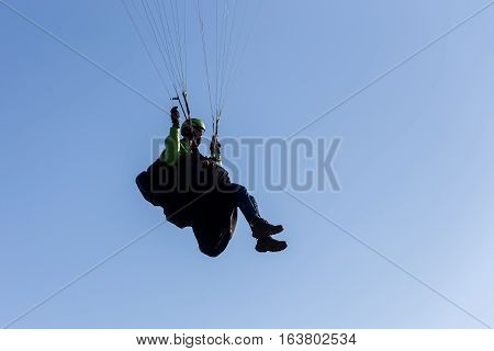 One Paragliding In The Sky