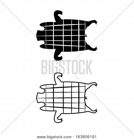 Barbecued suckling pig icons and symbol vector design