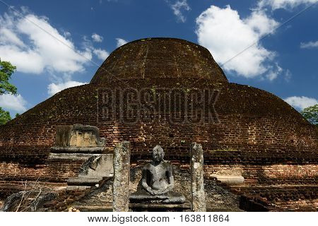 Polonnaruwa ruin was the second capital of Sri Lanka after the destruction of Polonnaruwa. The photograph is presenting Rankoth Ancient Buddhist Stupa. Sri Lanka