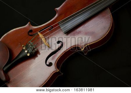 Wooden brown fiddle instrument classical music horizontal