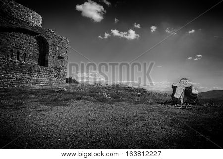 Staro Nogoricane Kumanovo Macedonia - September 22 2016: The Church of St. George (Crkva Svetog Djordja) is a Macedonian Orthodox church in the village of Staro Nagoricane near Kumanovo in the Republic of Macedonia.