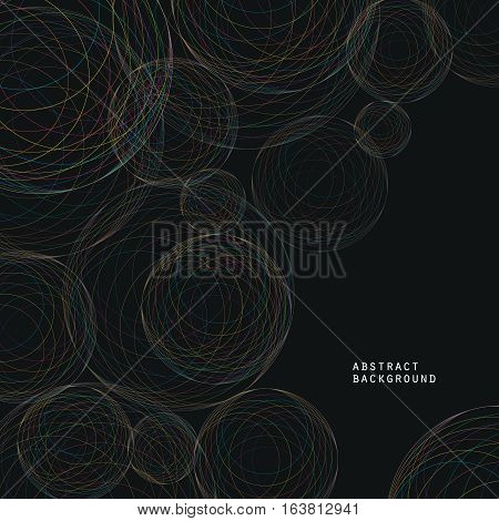 Modern abstract cosmic theme background from bright concentric circles. Can be used for brochure cover flyer or report.