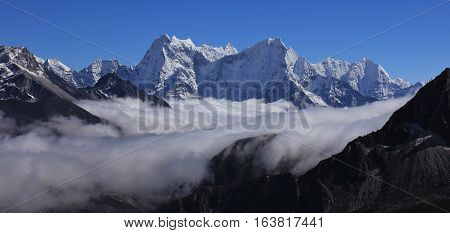View from Gokyo Ri Everest National Park Nepal.